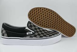 VANS CLASSIC SLIP-ON CHECKERBOARD BLACK/PEWTER GRAY CHECKER