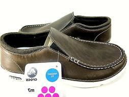 CROC Men's Thompson II.5 Low Moc Toe Loafer Shoes, Espresso/