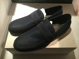 JIMMY CHOO DARBLAY CWI LOAFERS SHOES NAVY BLUE/BLACK SIZE 11