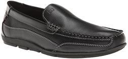 Tommy Hilfiger Men's Dathan Boat Shoe, Black, 7 M US