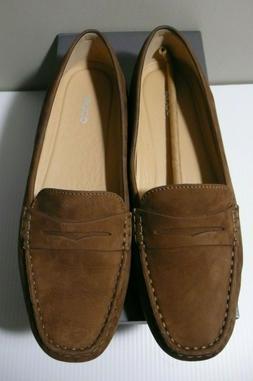 ECCO DEVINE MOC NWB Women's Nubuck Comfort Shoes Penny Loafe