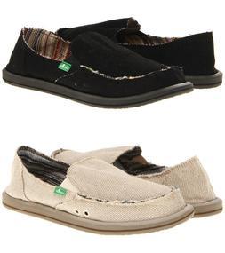 Sanuk Donna Hemp Women Shoes Slip-on Flat Sidewalk Surfer Bl