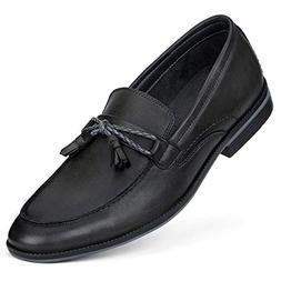 GM GOLAIMAN Men's Dress Shoes Slip On Modern Moc Toe Tasse