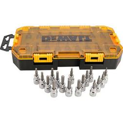 DeWALT DWMT73806 3/8-Inch Drive Socket 17 Piece Metric, SAE,