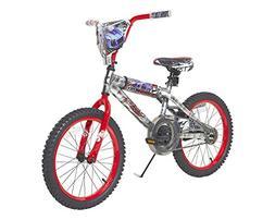 Hot Wheels Boys Dynacraft Bike with Rev' Grip, Silver/Red,
