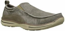 Skechers Elected-Drigo Men's Taupe Relaxed Fit & Extra Wide