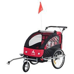 Aosom Elite II 3-in-1 Double Child Bike Trailer/Stroller/Jog