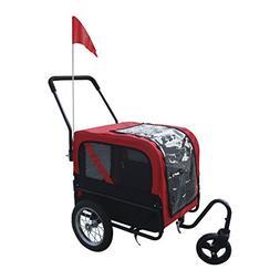 Aosom Elite-Jr Dog Pet Bike Trailer / Stroller w/ Swivel Whe