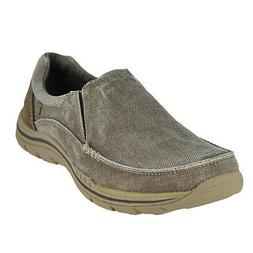 Skechers Expected-Avillo Khaki Mens Loafers Size 9W
