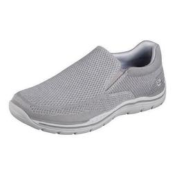 Skechers EXPECTED GOMEL Mens Grey Fabric 65086 Relaxed Fit l
