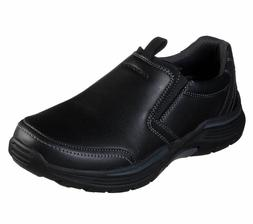 Skechers Extra Wide Fit Black Shoes Men Memory Foam Slip On