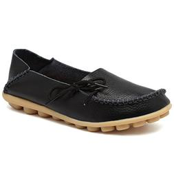Fantiny Women's Genuine Leather Loafers Casual Moccasin Driv