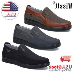 Fashion Men's Driving Moccasins Leather Casual Shoes Antiski