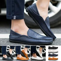 Fashion Mens Comfy Flats Driving Moccasin Loafers Casual Boa
