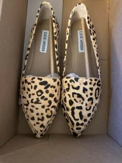 Steve Madden Feather Leopard Print Loafers Size 8