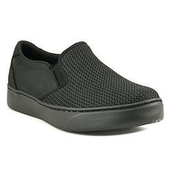 Skechers Women's Flat Knit Twin Gore Slip-On Black 6.5 B US