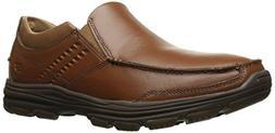 Skechers USA Men's Garton Messon Slip-on Loafer,Cognac,11 M