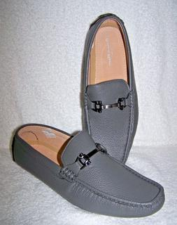 Bruno Marc New York Gray Leather Drivers Loafers size 12