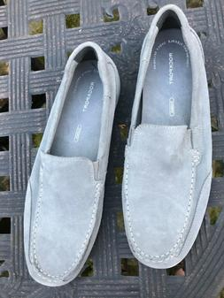 gray suede leather slip on loafers h80109