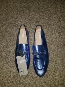 H&M Blue Leather Loafers Size 10
