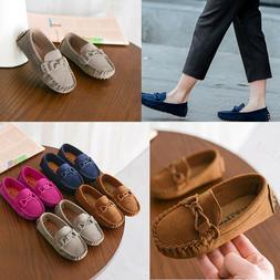 Infant Kids Boys Girls Loafers Solid Color Soft Bottom Breat