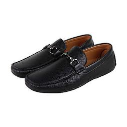 Kenneth Cole Unlisted Ian Driver Mens Black Leather Slip On