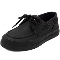 Nautica Kid's Spinnaker Boat Shoe Casual Loafer 2 Eye Lace-A