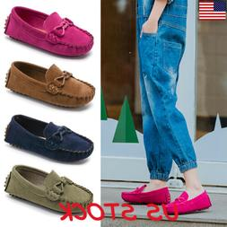 Kids Boys Girls Soft Loafers Oxford Flats Casual Shoes Toddl