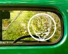 2 GRATEFUL DEAD HEAD BAND DECALs Sticker For Car Window Truc