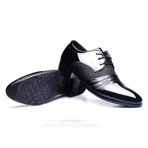 2018 Men Dress Formal Flat Lace Loafers