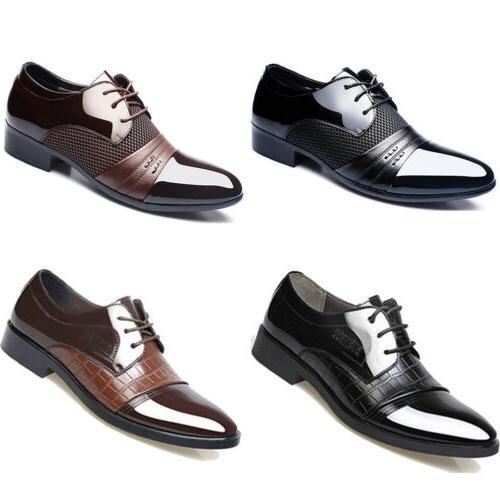 2018 men business dress formal oxfords leather