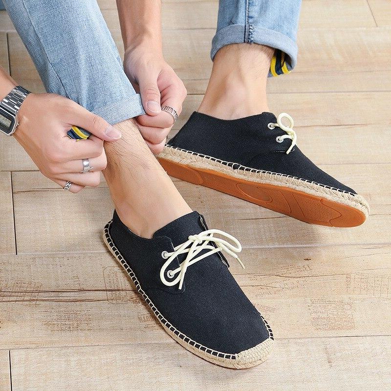 DESAI <font><b>Men</b></font>'s Rope Shoes Canvas Casual <font><b>Loafers</b></font>