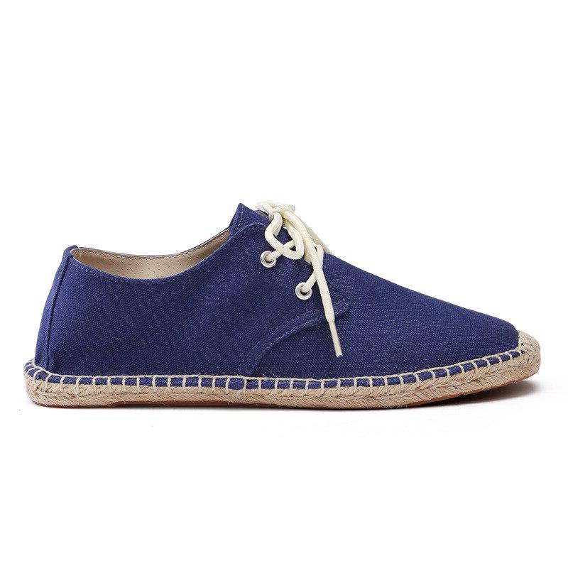 DESAI Rope Shoes Spring Lace Canvas <font><b>Men</b></font> Casual