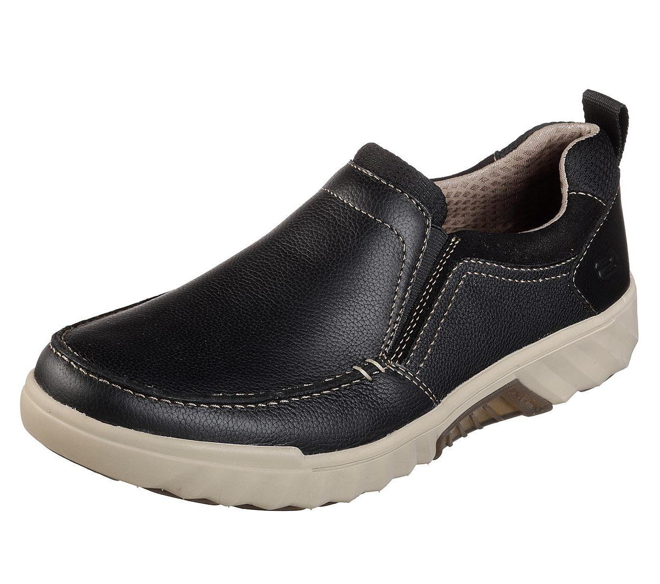 65745 Black Skechers shoes Men Memory Foam Slip On Comfort L