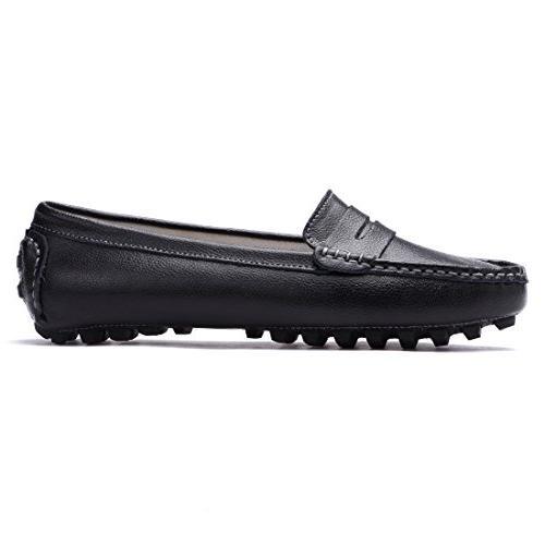 SUNROLAN Casual Genuine Driving Flats Shoes