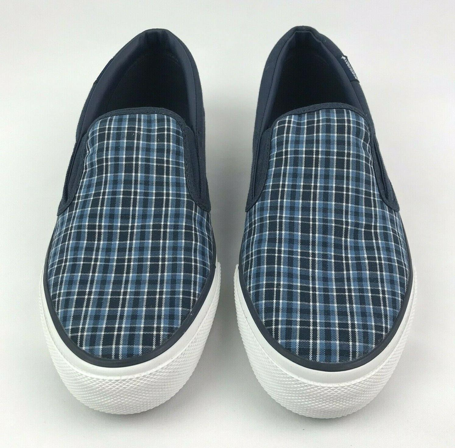 Converse Star 10 Plaid Deck Slip On Shoes Sneakers NEW