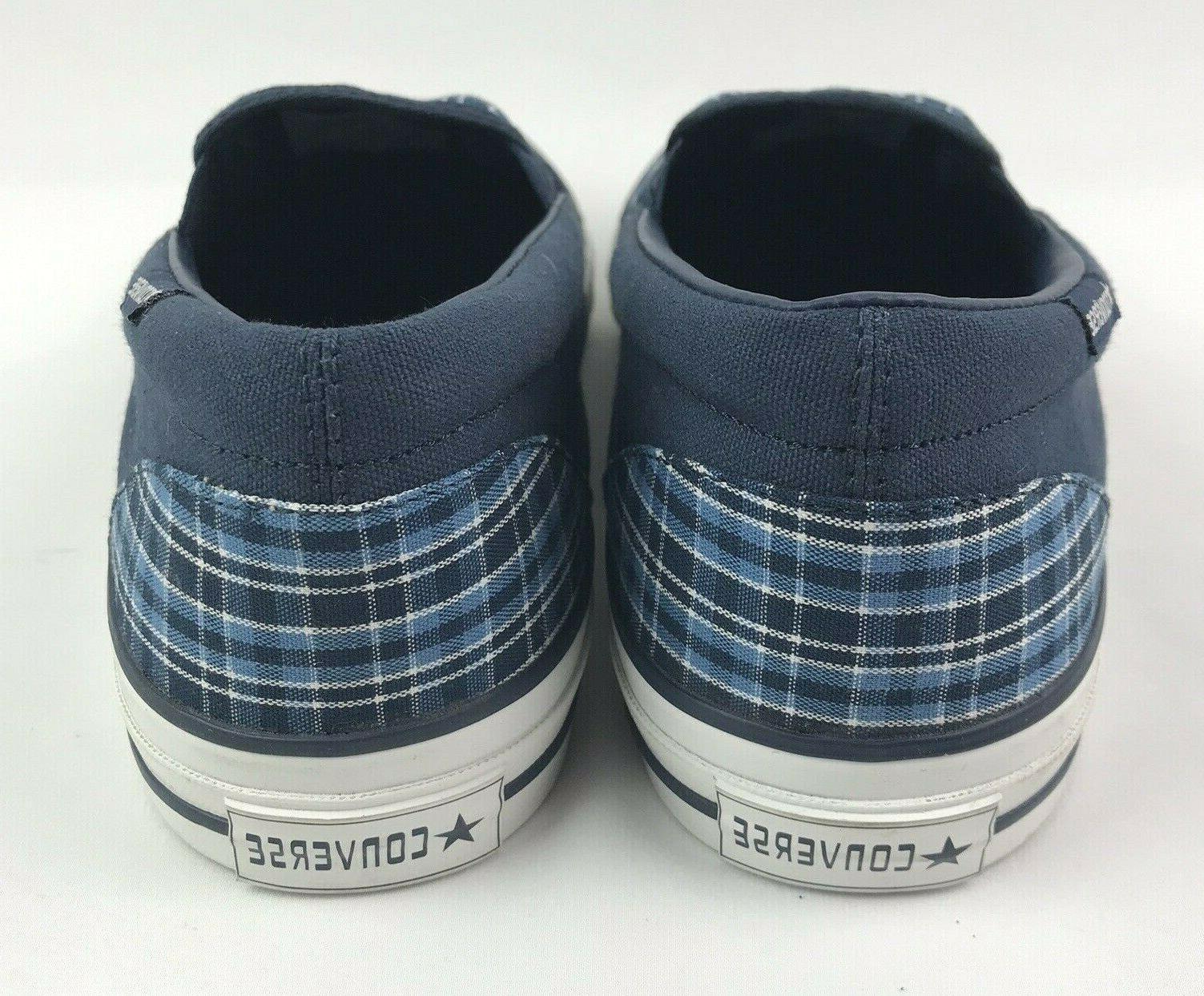 Converse 10 W Plaid Deck Shoes NEW