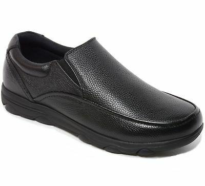 Work Slip Resistant Real Leather Slip-On