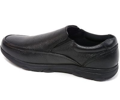 Alpine Arbete Mens Work Shoes Slip Resistant Real Leather Slip-On Loafers