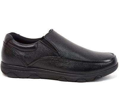 Alpine Swiss Arbete Work Shoes Real Leather Slip-On