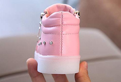 CieKen Baby Baby Bowknot Luminous Sport Sneakers,Boys'