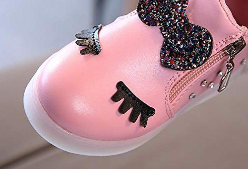 CieKen Baby Shoes,Kids Baby Bowknot LED Luminous Boots Sport