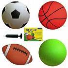 "Set of 4 Sports Balls with 1 Pump, 5"" Soccer Ball, 5"" Basket"