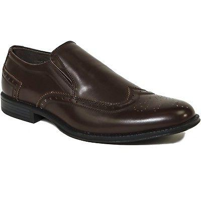 Alpine Basel Wing Tip Dress Shoes Brogue On Loafers