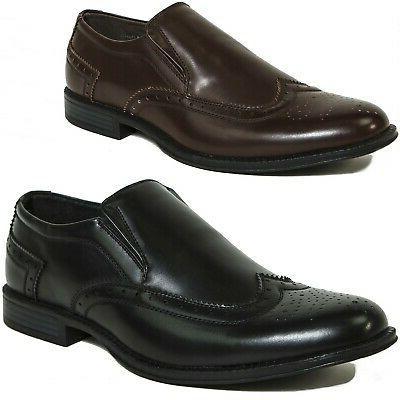 basel men s wing tip dress shoes