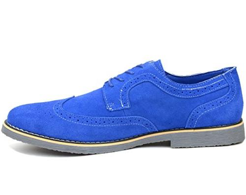 Alpine Dress Shoes Genuine Wing Tip Up Oxfords