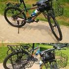 Bicycle Basket Wire Mesh Fold-Up Bike Front Handlebar Storag