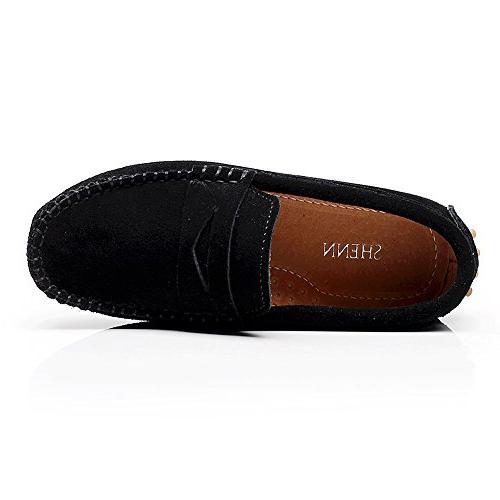 Shenn Cute Black Leather Shoes US1