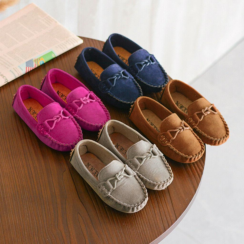 Toddler Kid Boys Girls Slip Casual Flats Shoes