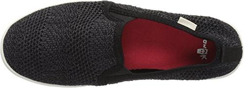 Sanuk Knit Loafer Flat, Black, M